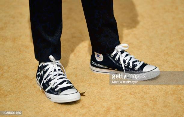 Gaten Matarazzo shoe detail attends the 70th Emmy Awards at Microsoft Theater on September 17 2018 in Los Angeles California