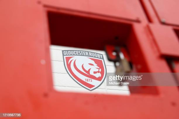 Gates are padlocked at Kingsholm Stadium home of Gloucester Rugby on March 19, 2020 in Gloucester, England.