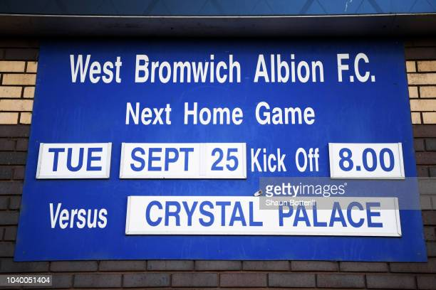 WBA gates during the Carabao Cup Third Round match between West Bromwich Albion and Crystal Palace at The Hawthorns on September 25 2018 in West...