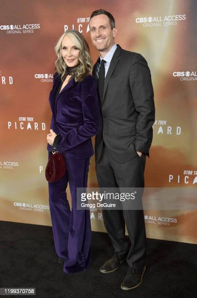 Gates McFadden and guest attend the Premiere Of CBS All Access' Star Trek Picard at ArcLight Cinerama Dome on January 13 2020 in Hollywood California