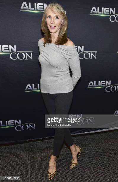 Gates McFadden arrives at AE Networks Mischief Management Prometheus Entertainment present AlienCon 2018 at Pasadena Convention Center on June 17...