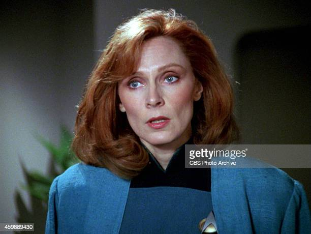 Gates McFadden as Dr Beverly Crusher in the STAR TREK THE NEXT GENERATION episode The Hunted Season 3 episode 11 Original air date January 8 1990