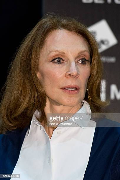 Gates McFadden takes part in a QA session during the Destination Star Trek event at ExCel on October 3 2014 in London England