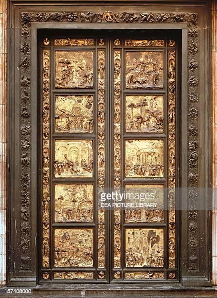 Gates of Paradise Lorenzo Ghiberti Baptistery of San Giovanni Battista Florence Italy 15th century