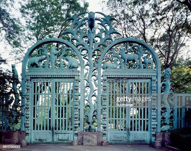 Gates to the Bronx Zoo called the Rainey Gates New York New York