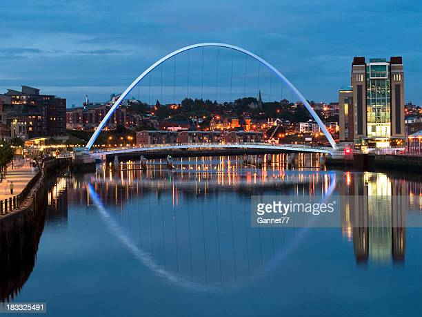Gateshead Millennium Bridge at dusk