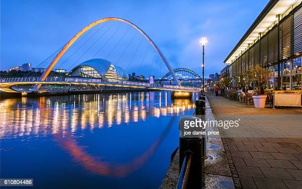 Gateshead Millennium Bridge, Newcastle, Tyneside, England