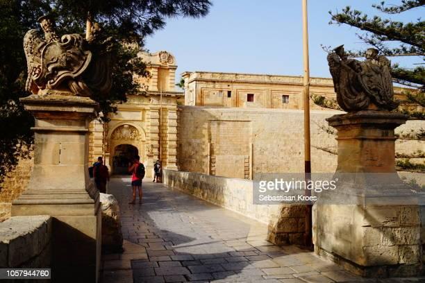 Gateway and Bridge towards the Fortified village of Mdina, Malta