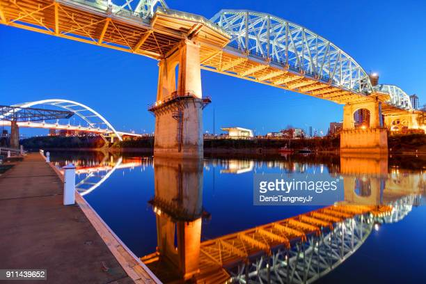 Gateway and the Shelby Street Bridges in Nashville Tennessee