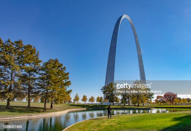 Gateway Arch across the reflection pool