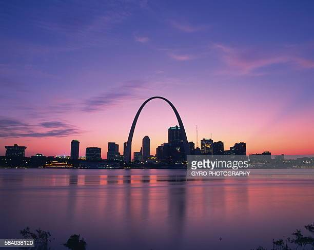 Gateway Arch in the evening, Missouri, USA