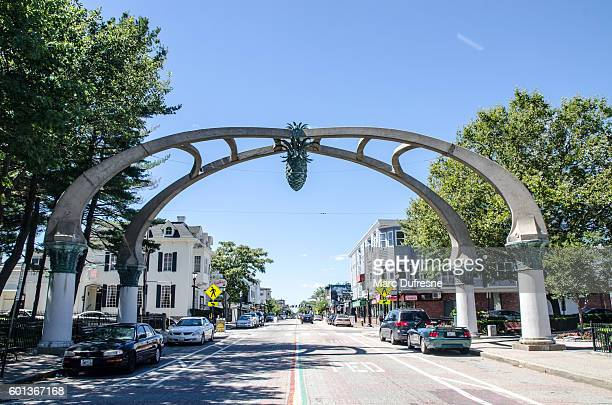 Gateway arch over Atwells Avenue in Providence, Rhode Island