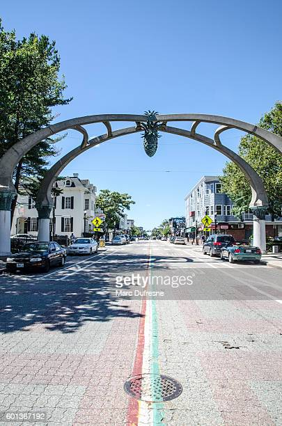 gateway arch over atwells avenue in providence, rhode island - rhode island stock pictures, royalty-free photos & images