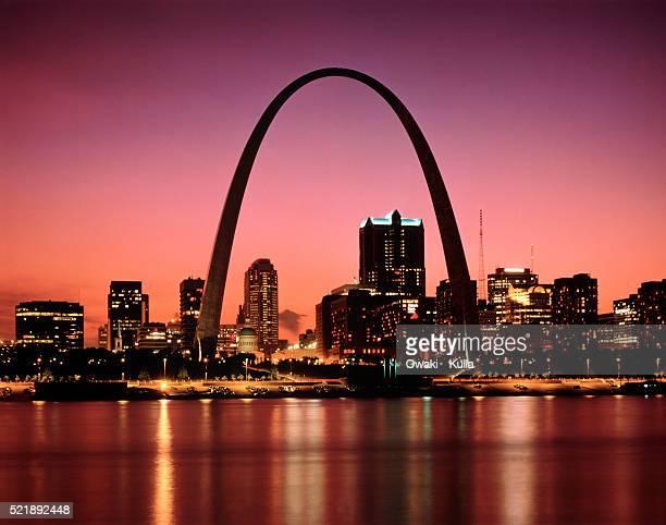 gateway arch, st. louis, missouri - ミズーリ州 セントルイス ストックフォトと画像