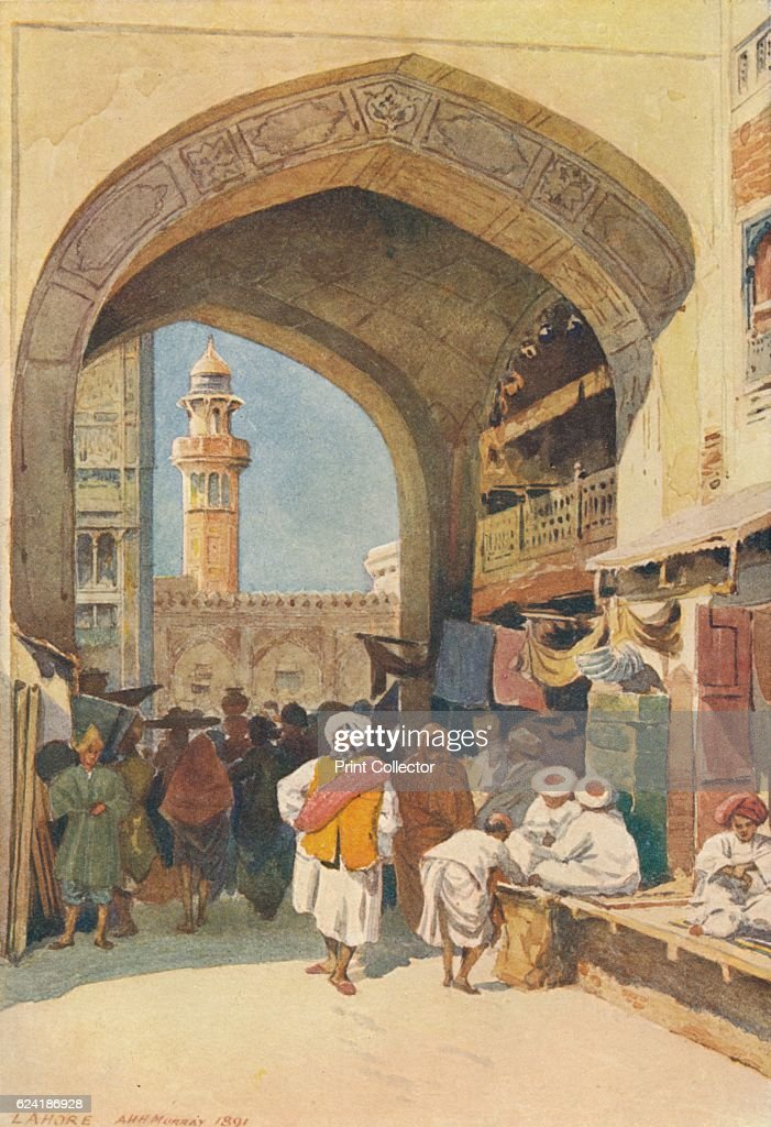 A Gateway in the Bazaar Lahore` c1880 From The HighRoad of Empire by A H Hallam Murray [John Murray Ablemarle Street London 1905] Artist Alexander...