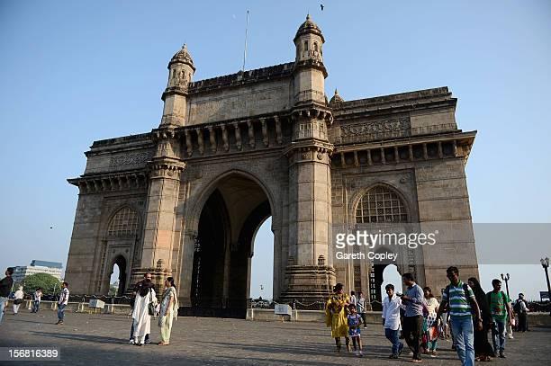 Gateway of India monument on November 21 2012 in Mumbai India