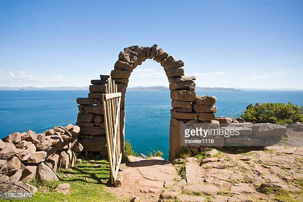 Gateway On Taquile Island Lake Titicaca, Peru