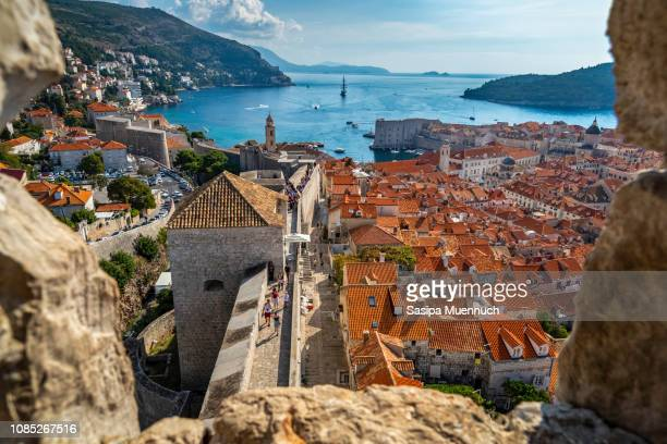 gateway to adriatic sea - croatia stock pictures, royalty-free photos & images