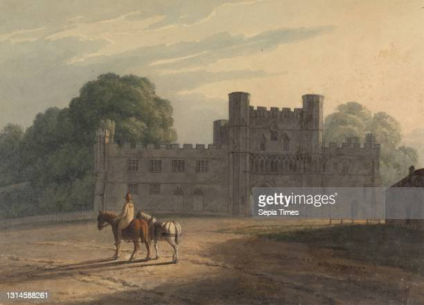Gateway to Battle Abbey, Henry Morton, ca. 1807–1825, British, after 1819, Watercolor and graphite with pen and black ink on medium, slightly...