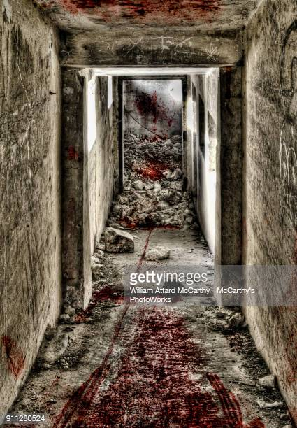 gateway to hell - murder scene stock pictures, royalty-free photos & images