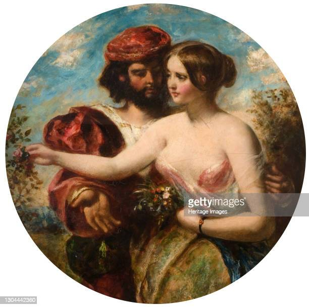 Gather the Rose of Love While Yet 'Tis Time, 1848. The title of the painting comes from the incomplete epic poem 'The Faerie Queen' by Edmund...