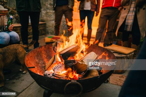Gathered Around the Fire Pit