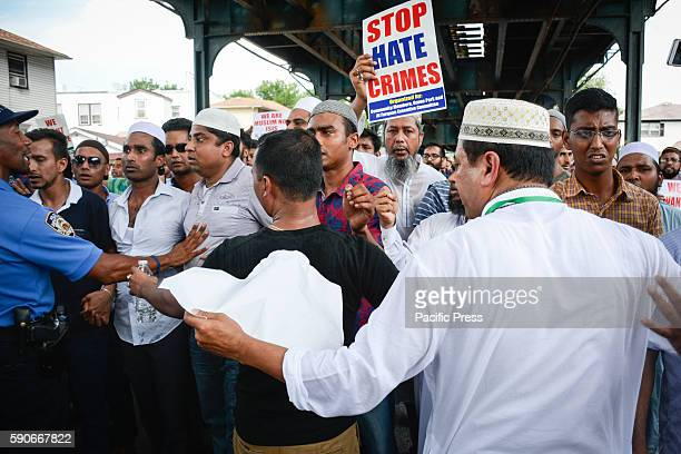 Gathered near 79th street under the EL demanding justice for the killings Thousands gather to mourn slain Imam and his assistant after they were shot...