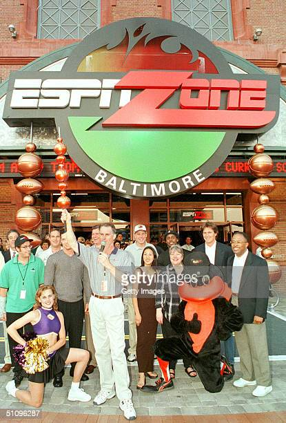 Gathered To Celebrate The Opening Of The World's First Espn Zone In Baltimore Md Sunday July 12 Are President Ceo Of Espn And President Of Abc Sports...