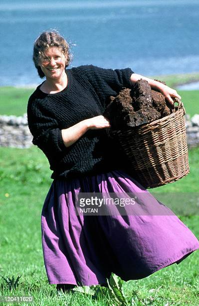 Gathering dry peat in Ireland in 1987 Sligo County Heat is generated mainly by peat in Western Ireland