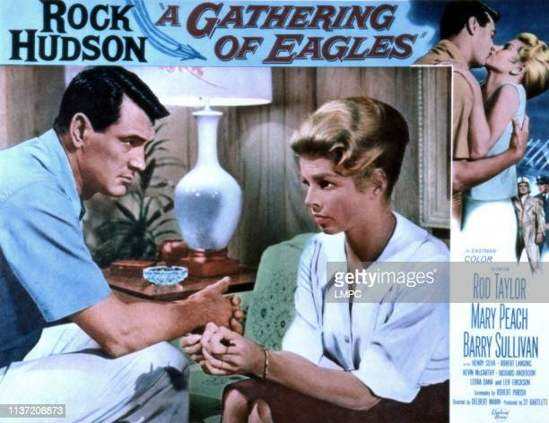 Gathering Of Eagles, poster, Rock Hudson, Mary Peach, 1963.