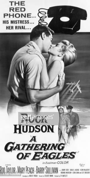 Gathering Of Eagles, poster, Rock Hudson, Mary Peach, Rod Taylor, Barry Sullivan, 1963.