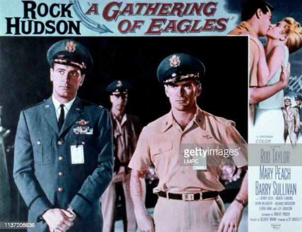 Gathering Of Eagles, poster, Rock Hudson, Rod Taylor, Mary Peach, 1963.