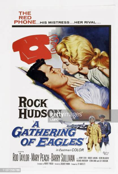 A Gathering Of Eagles poster US poster art from top left Rock Hudson Mary Peach Barry Sullivan Rod Taylor 1963