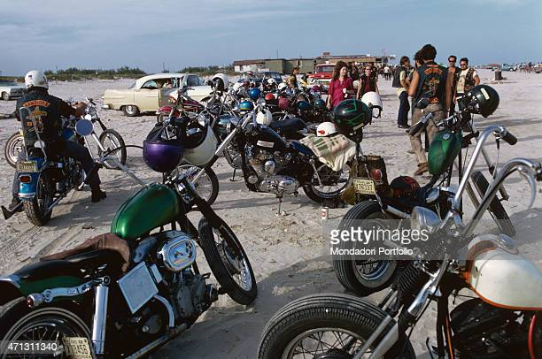 A gathering of the Bandidos gang young American bikers in Texas These young men imitate the Californian Black Angels but they are less dangerous and...