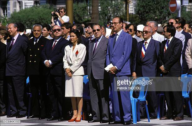 Gathering of the Black feet In Nice France On June 28 1987 JeanClaude Gaudin Michele Barzach Charles Pasqua Jacques Chirac