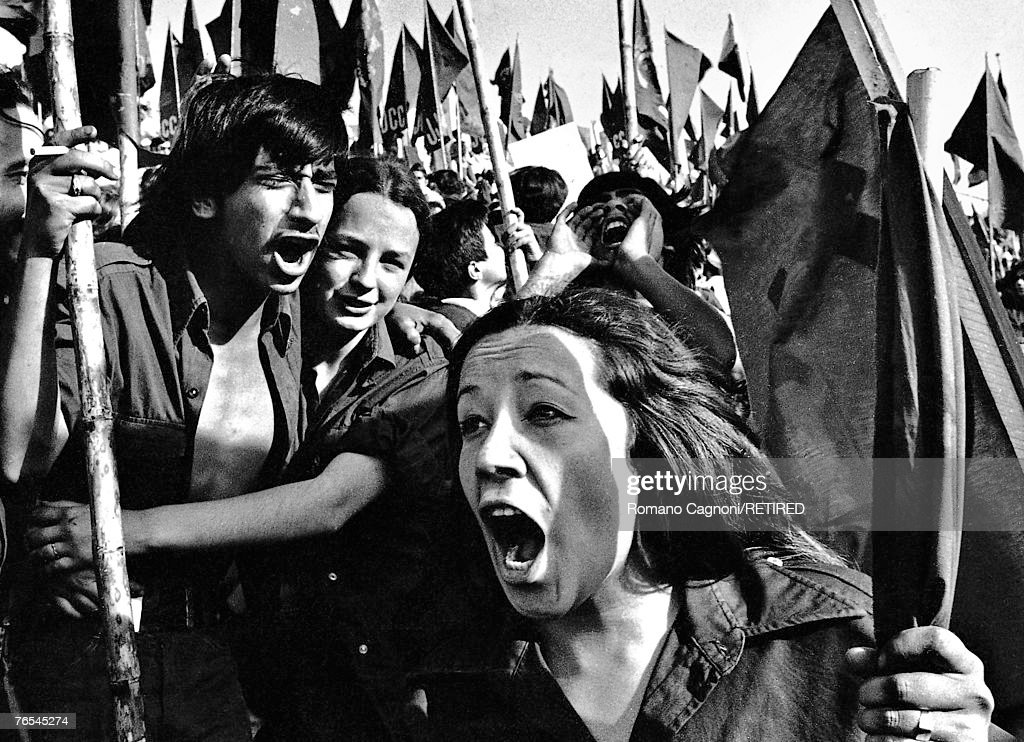 A gathering of the JJCC (Juventudes Comunistas de Chile), the youth wing of the Chilean Communist Party, 1971.