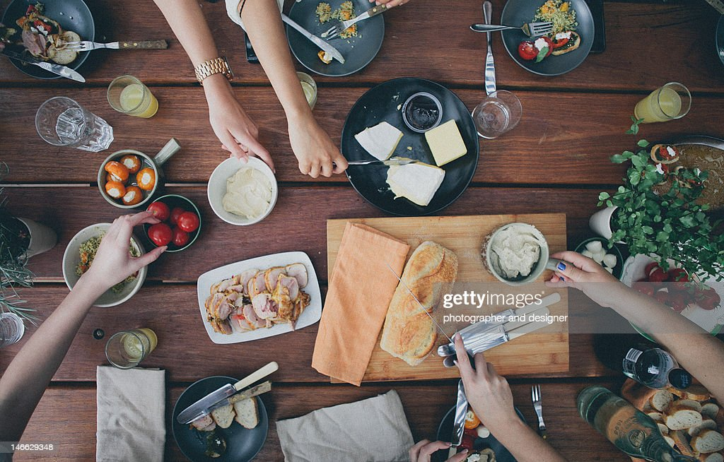 Gathering with friends : Stock Photo