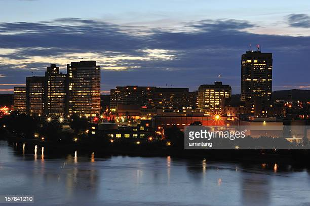 gatineau at night - gatineau stock pictures, royalty-free photos & images