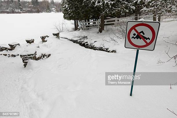 Gatineau Park, Outaouais region, Québec, Canada, January 2, 2016. -- The Gatineau Park is a 361 square kilometres wedge of land extending north and...