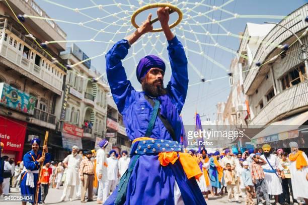 Gatka Sikh martial art practitioner in Amritsar.