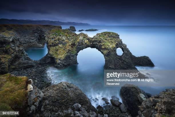 Gatklettur arch rock in Iceland