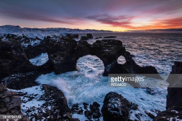 Gatklettur. Iceland. North Atlantic Ocean.