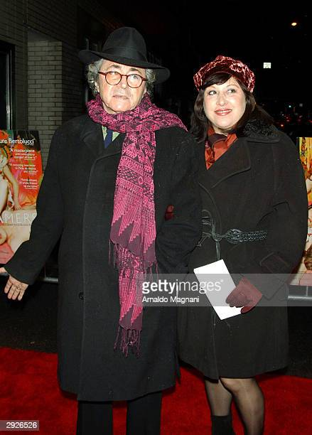 Gato Barbieri arrives with his wife at the New York premiere of The Dreamers on February 3 2004 at the Beekman Theater in New York City