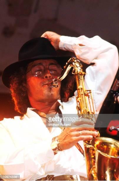 Gato Barbieri performs on stage New York June 1979