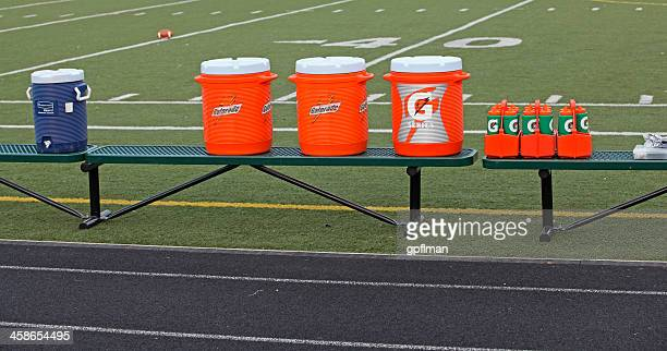 gatorade vs water - water cooler stock photos and pictures