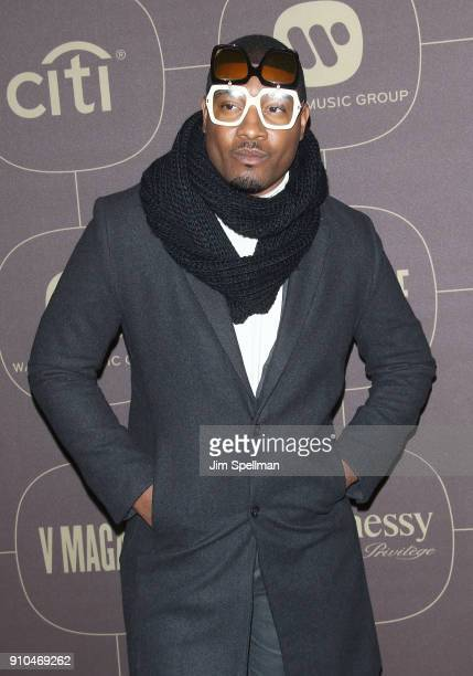 Gatsby Randolph attends the 2018 Warner Music Group Pre Grammy Celebration at The Grill The Pool Restaurants on January 25 2018 in New York City