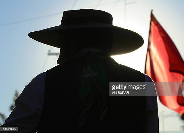 A gaucho heads to the sanctury of Gauchito Gil near Mercedes in the Argentine province of Corrientes 08 January 2005 Around 120000 people arrived at...