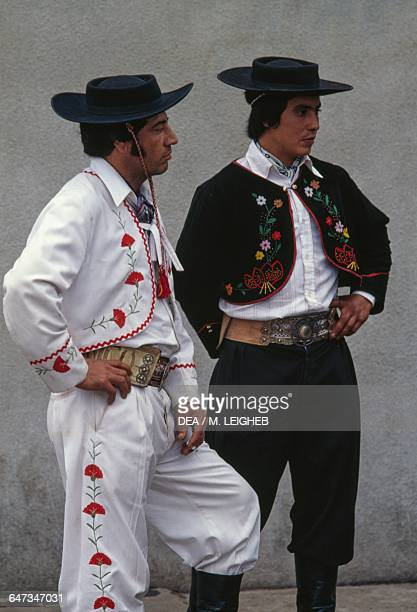Gauchos wearing traditional hats and clothes Argentina