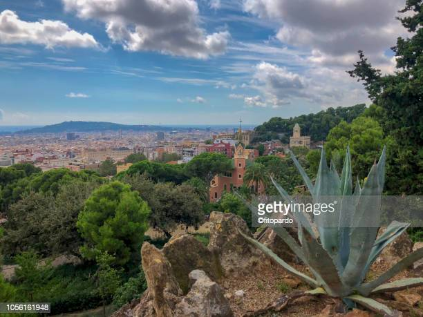 Gaudí House Museum and Barcelona landscape