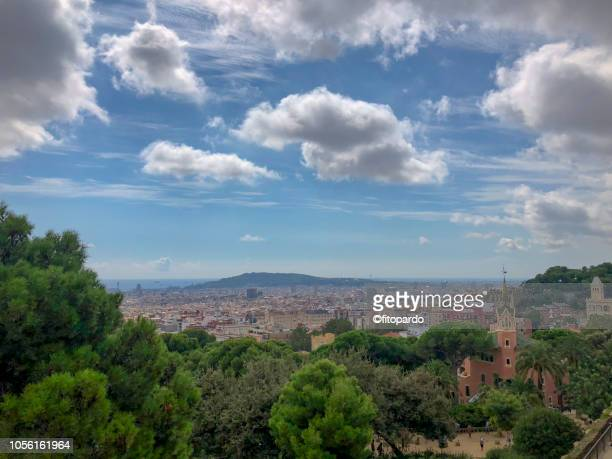 Gaudí House Museum and Barcelona landscape